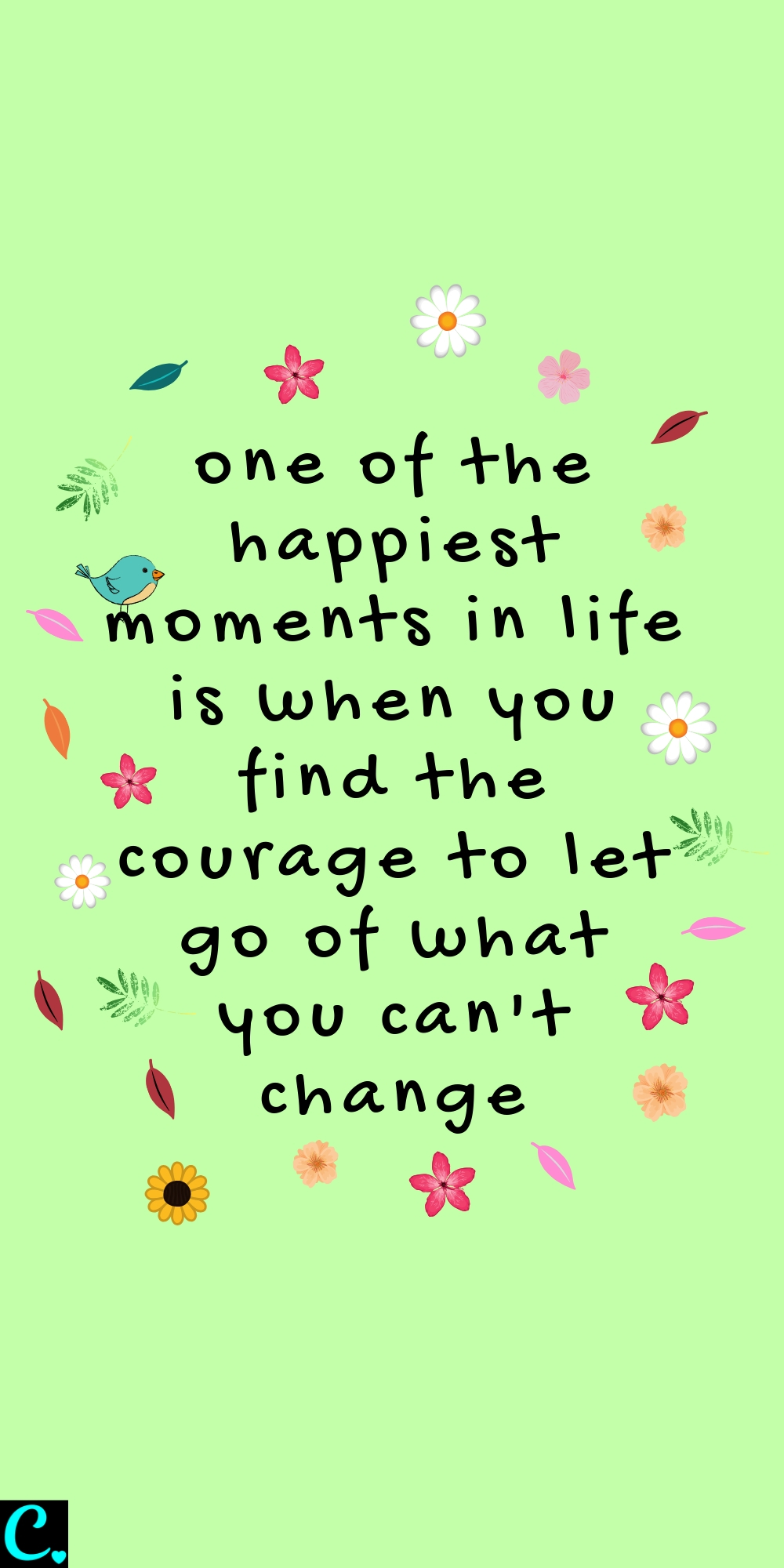 one of the happiest moments in life is when you find the courage to let go of what you can't change#happinessquote #positivequotes #braveryquotes