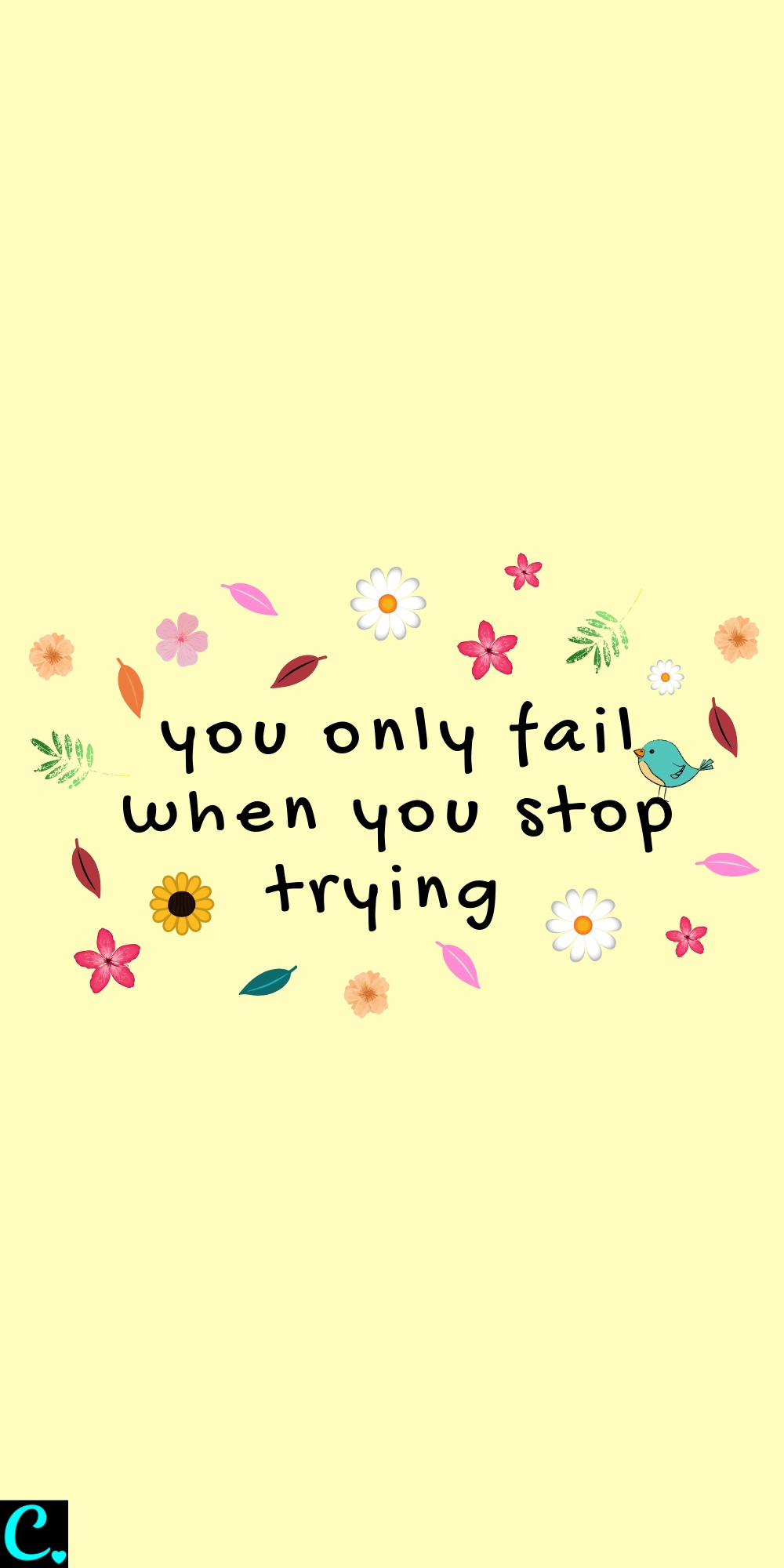 You only fail when you stop trying #motivationalquote #bravequotes #successquotes #successmindset