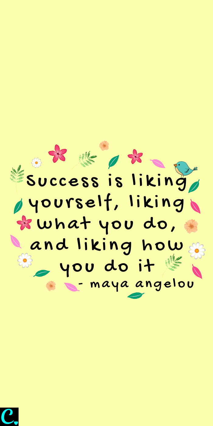 Success is liking yourself, liking what you do, and liking how you do it