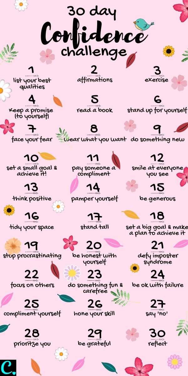 30 Day Confidence Challenge! How to be more confident, happy and carefree in 30 days #confidence #selfcare #personaldevelopment #30daychallenge