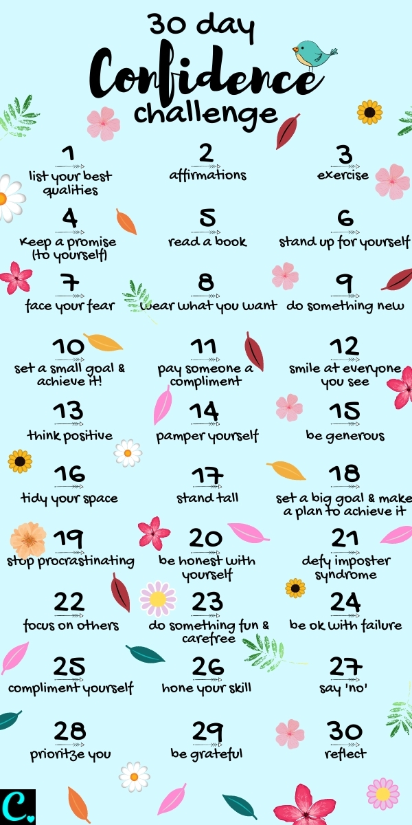 30 Day Confidence Challenge: Easy Steps to a More Confident You!