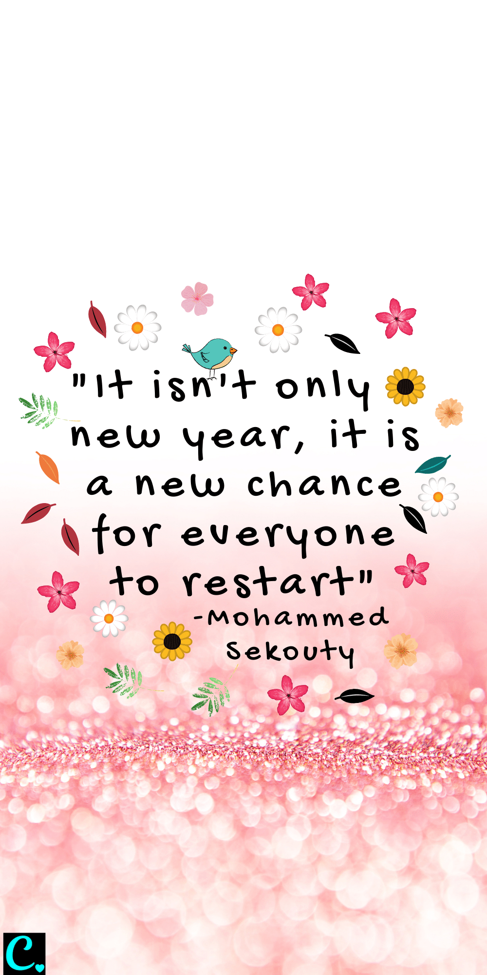 """""""It isn't only a new year, it is a new chance for everyone to restart"""""""