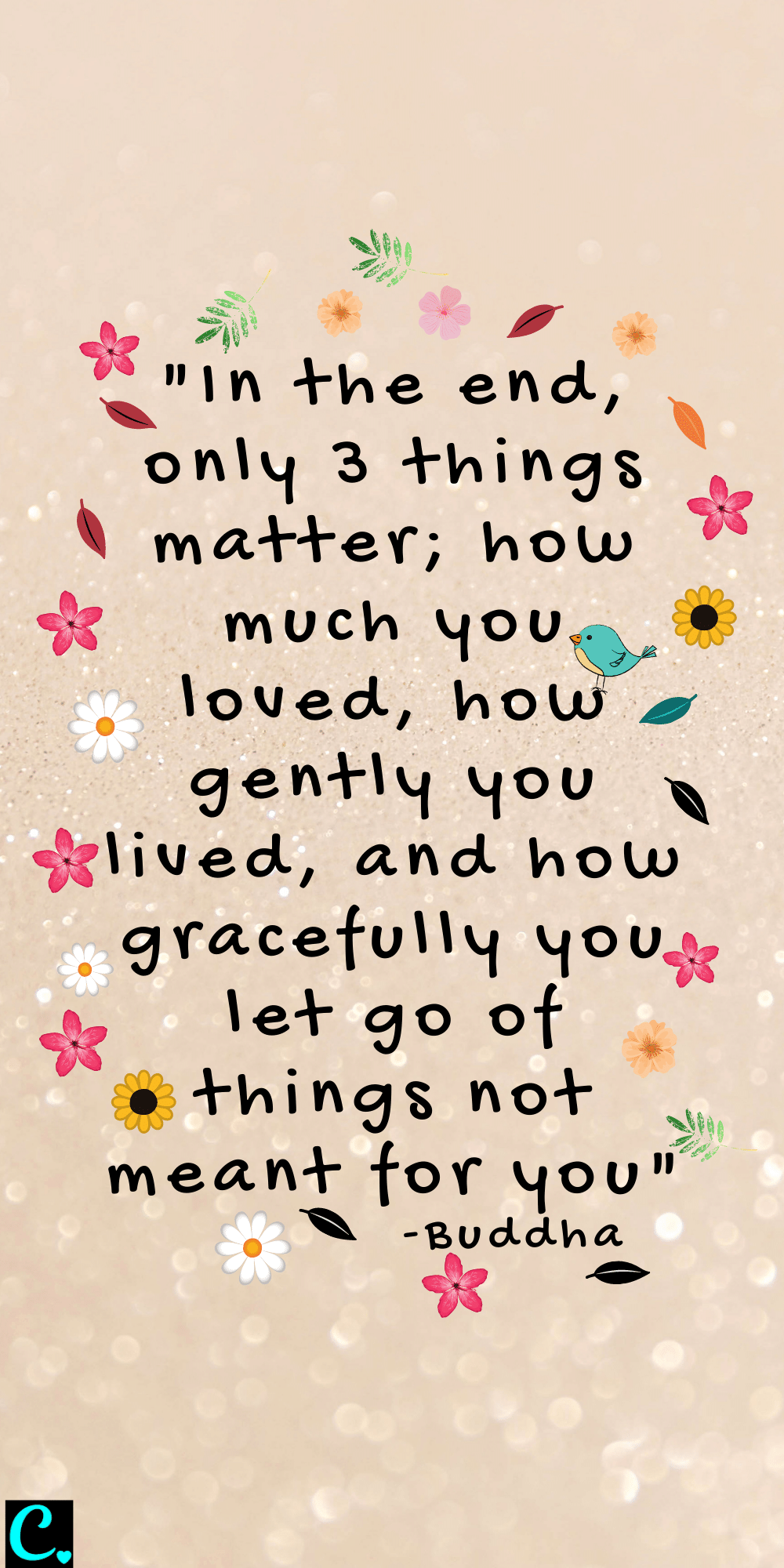 """""""In the end, only 3 things matter; how much you loved, how gently you lived, and how gracefully you let go of things not meant for you"""""""
