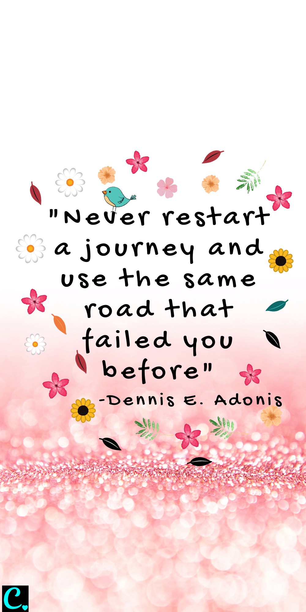 """""""Never restart a journey and use the same road that failed you before"""""""