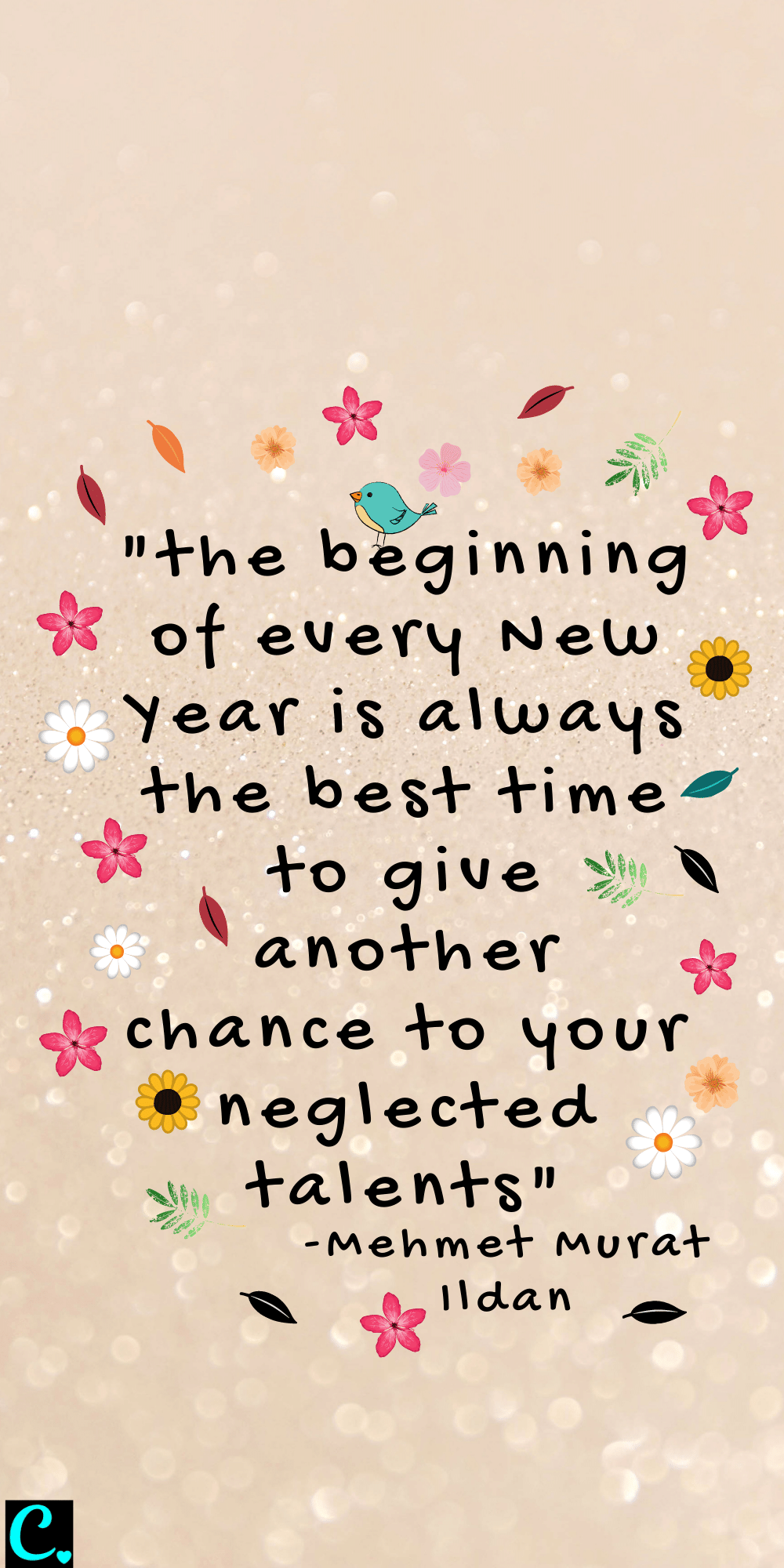 """""""the beginning of every New Year is always the best time to give another chance to your neglected talents"""""""