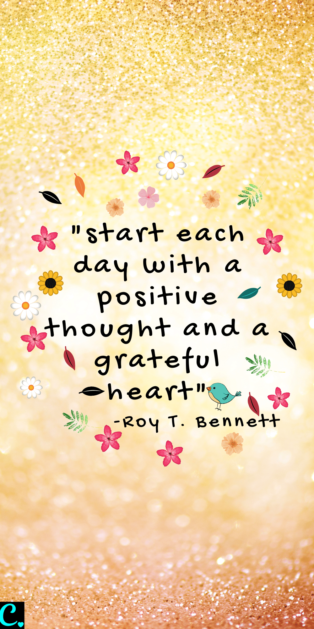 """""""start each day with a positive thought and a grateful heart"""""""