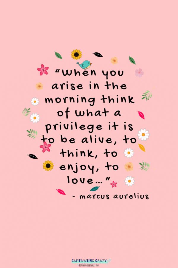 Motivation Monday quote Marcus Aurelius