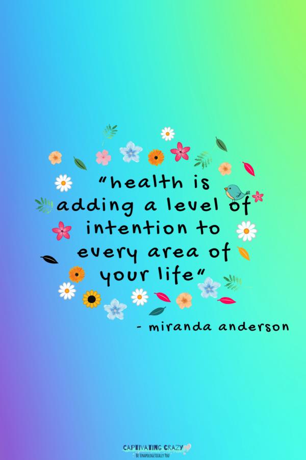 Intention quote - Miranda Anderson