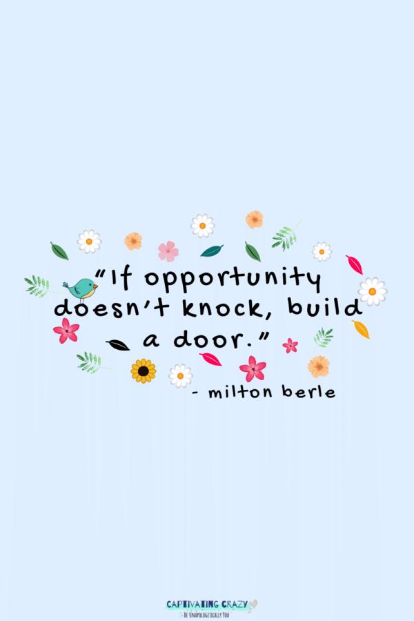 Monday quote Milton Berle