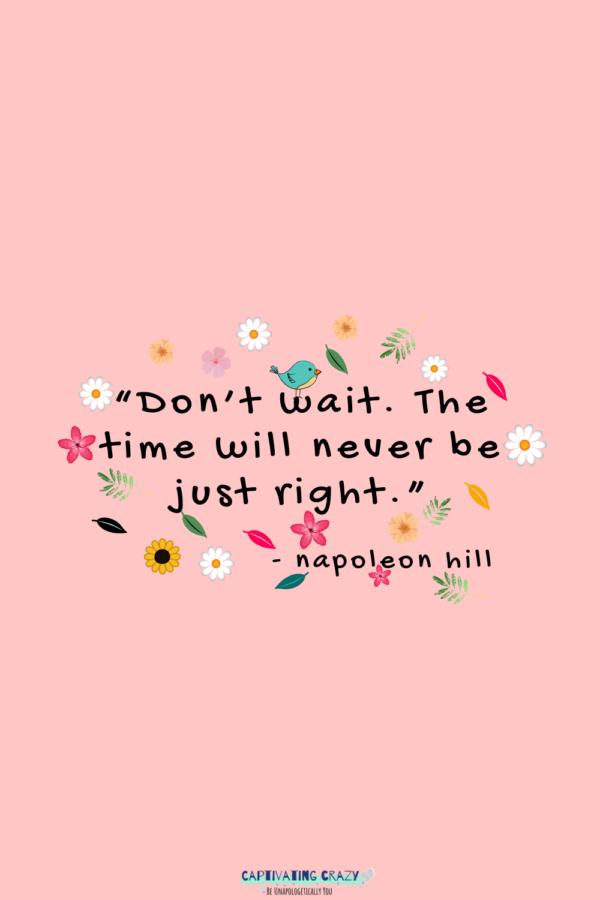 Monday quote Napoleon Hill