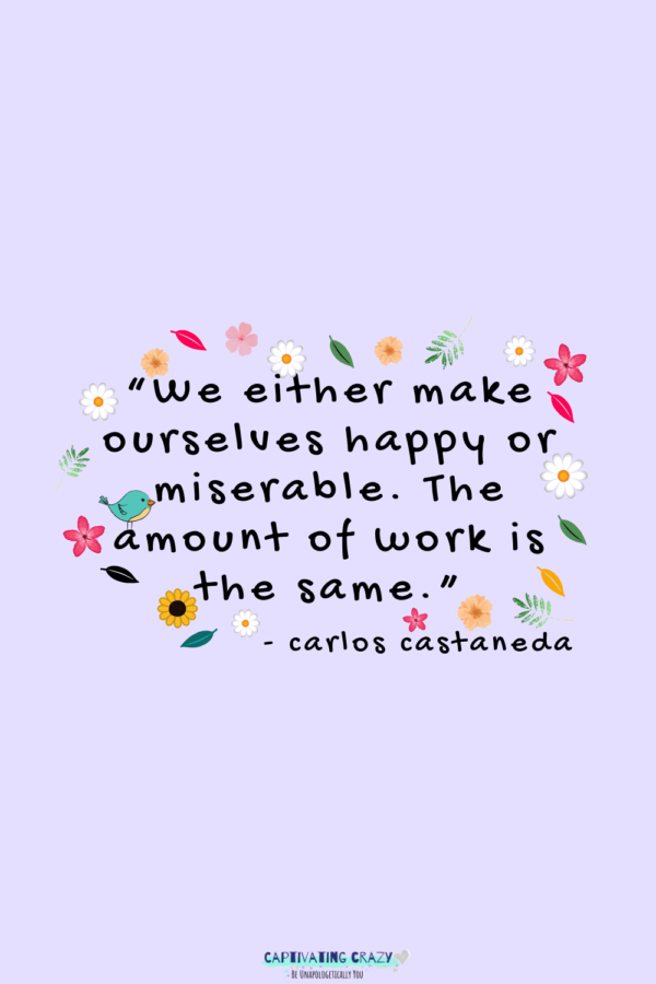 Monday quote Carlos Castaneda