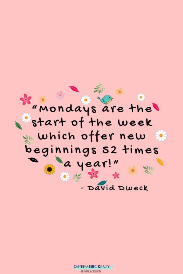 Monday quote Davis Dweck