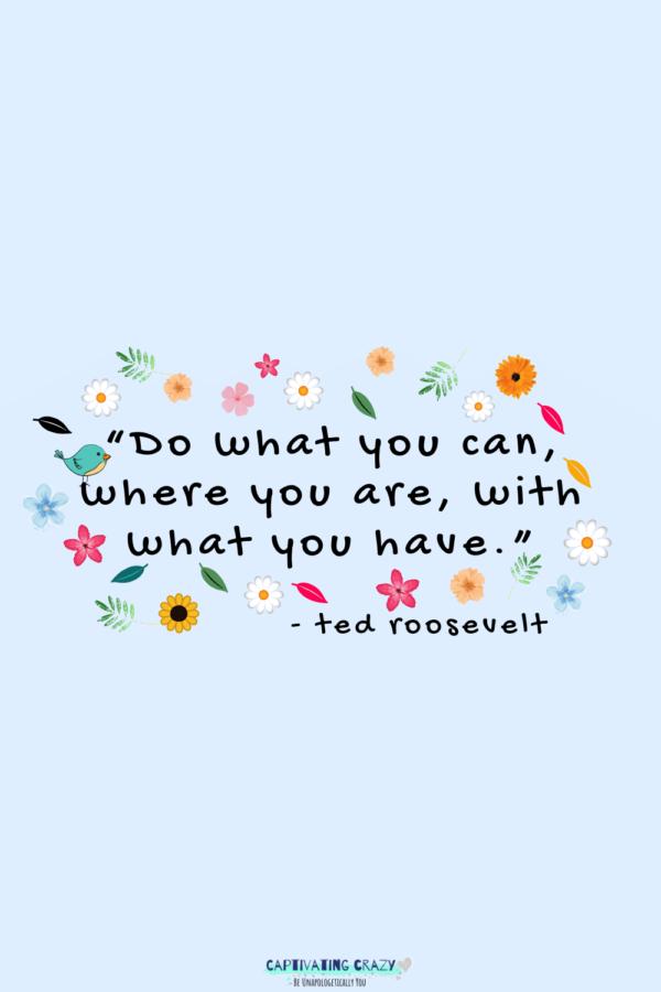 Monday quote Teddy Roosevelt