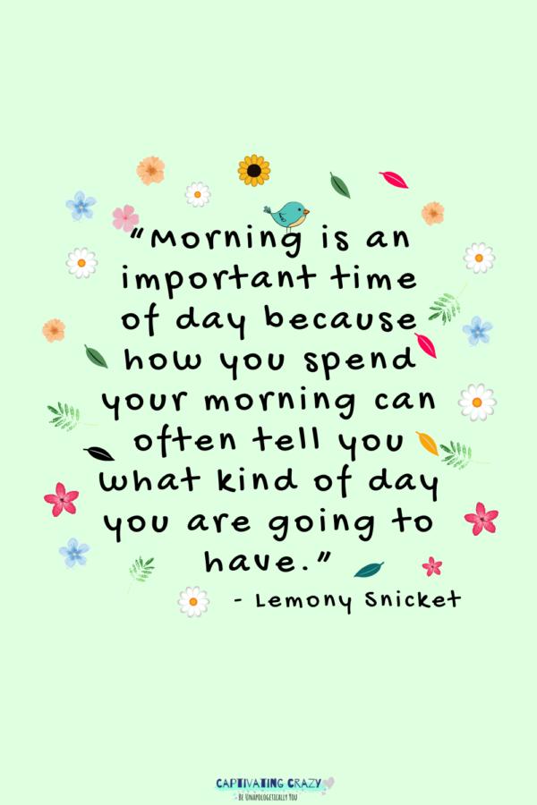 Monday quote lemony Snicket