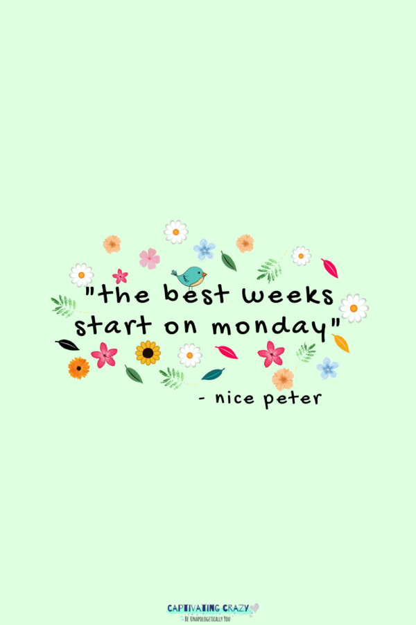 Monday quote Nice Peter