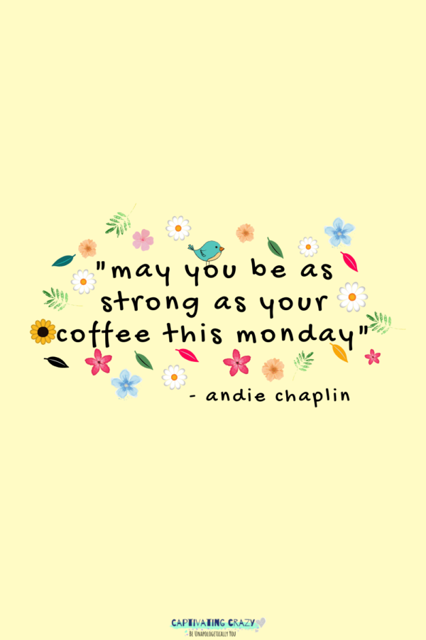 Monday quote Andie Chaplin