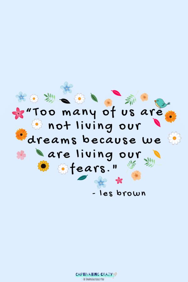 Monday quote Les Brown