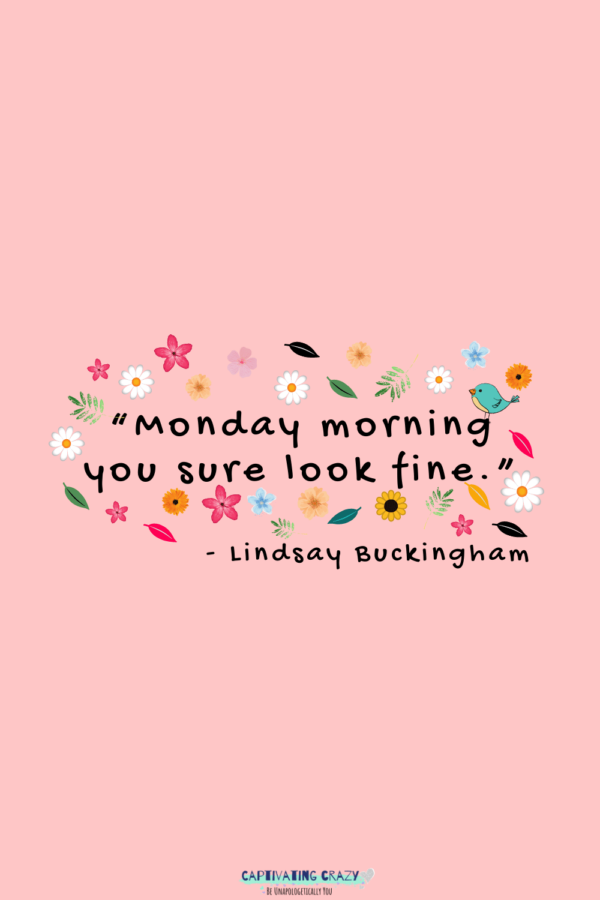 Monday quote Lindsay Buckingham