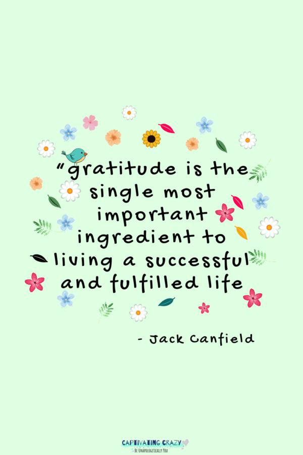 gratitude quote Jack Cranfield