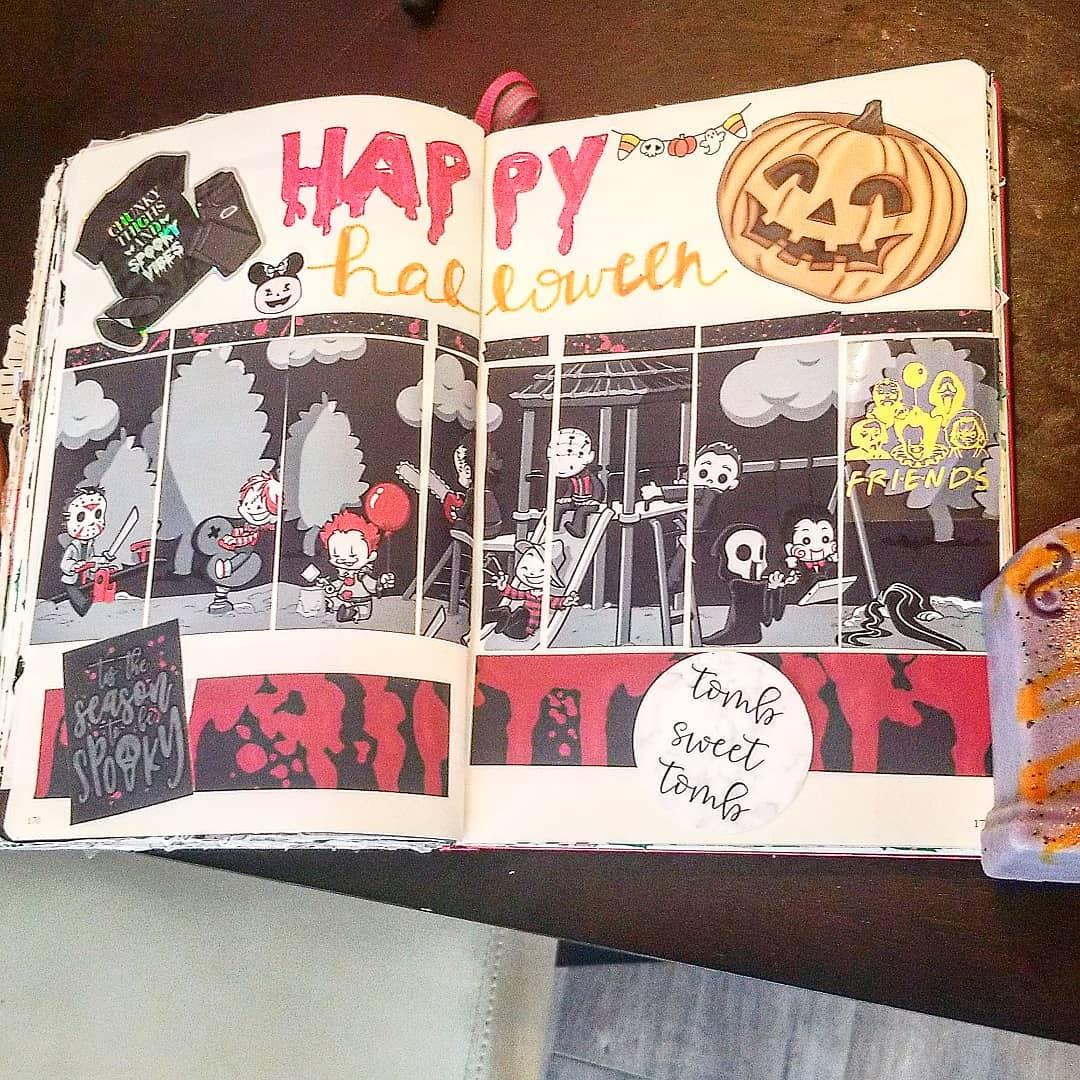 Spooky comic Strip