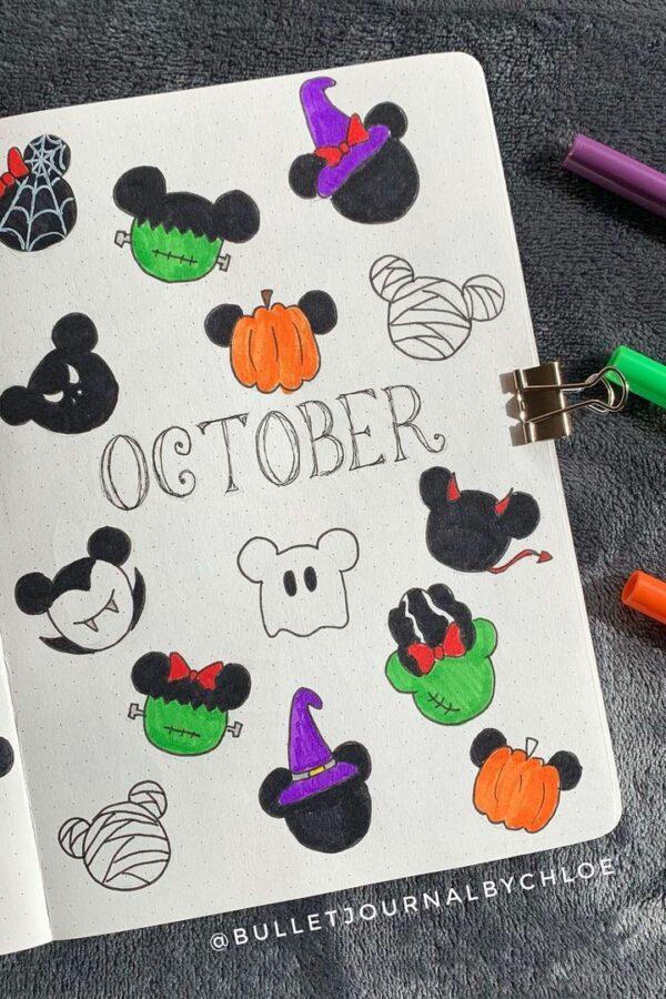 Halloween Bullet Journal Cover