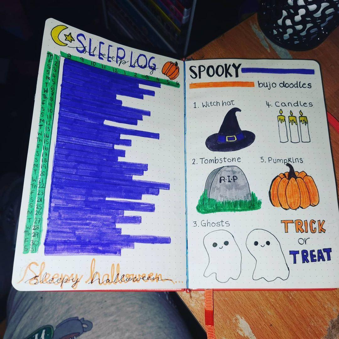 Halloween sleep log