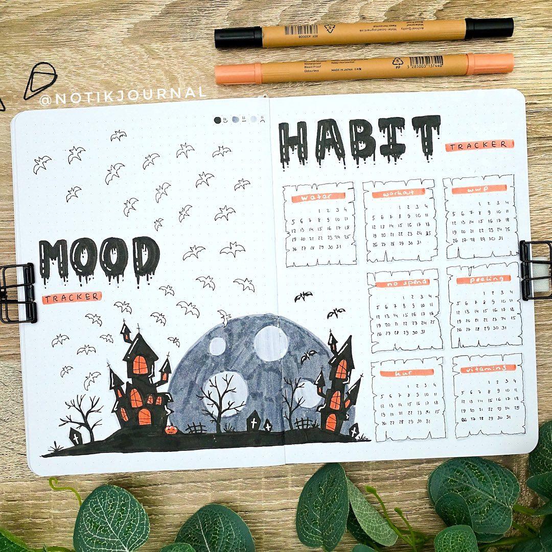 Halloween mood and habit tracker