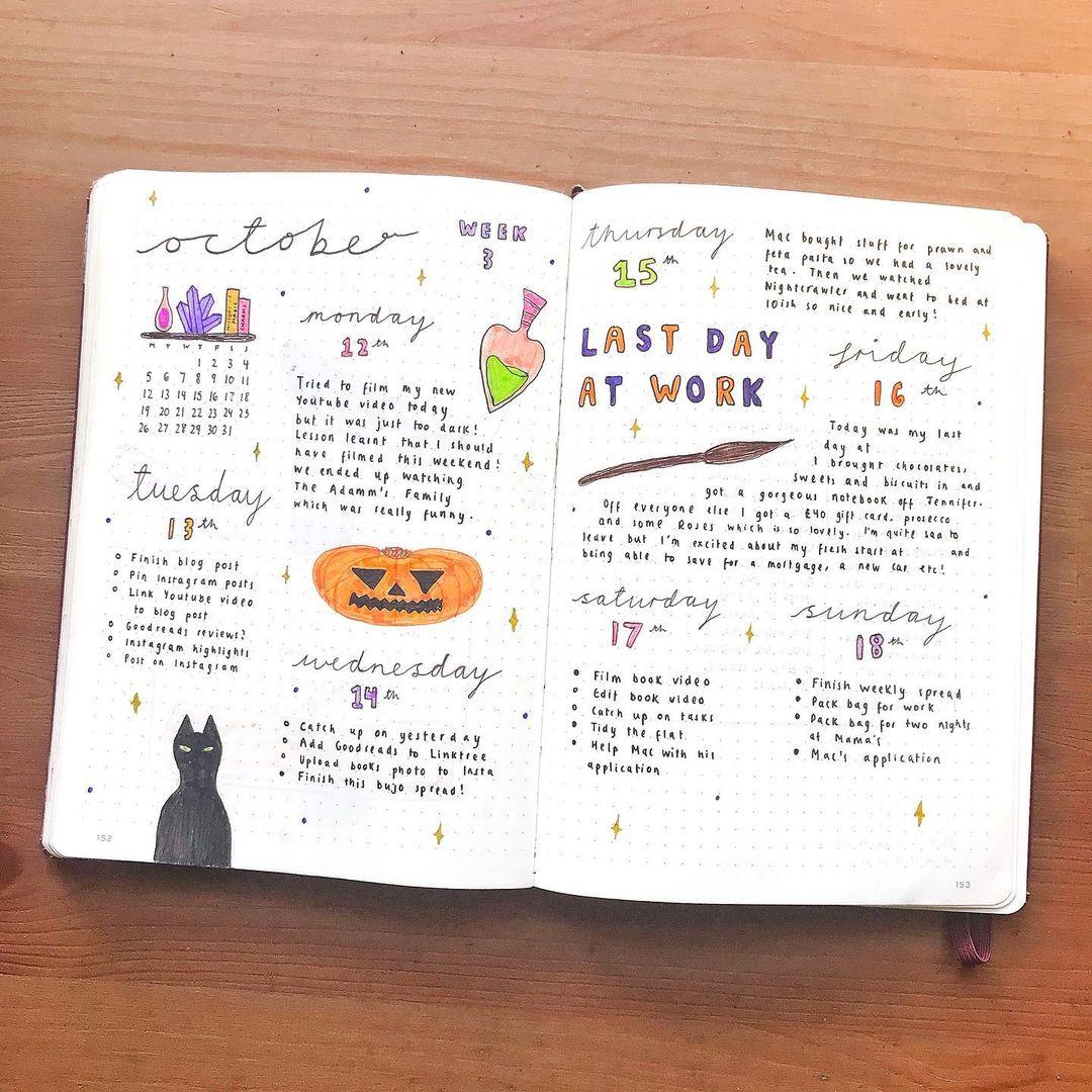 October weekly spread