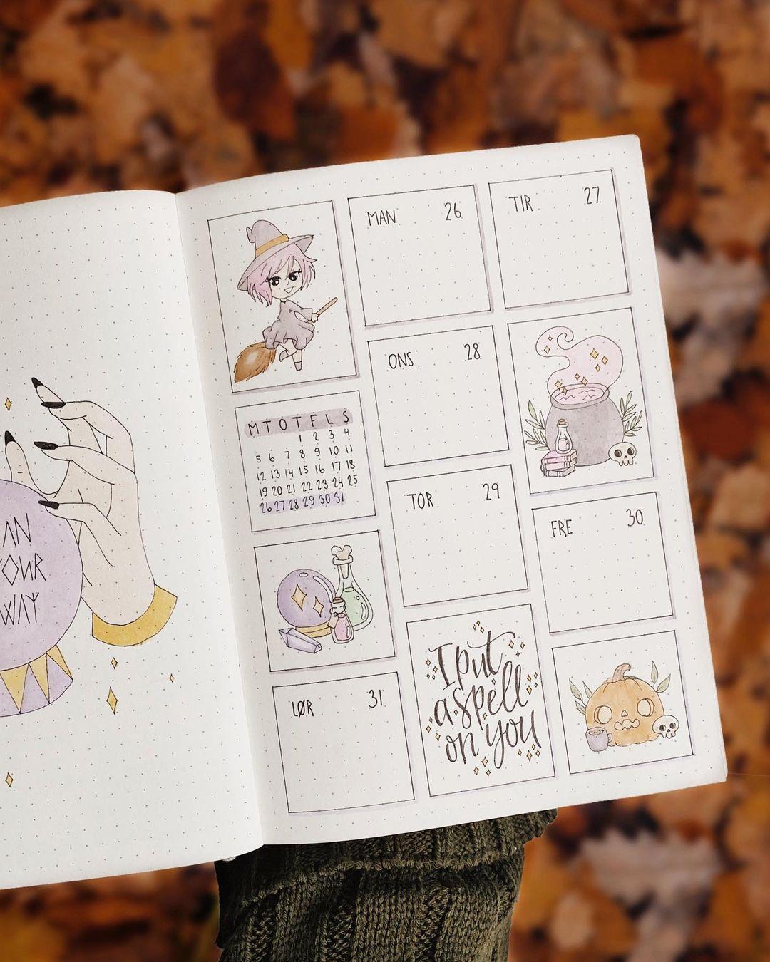 Cute Halloween Weekly Spread