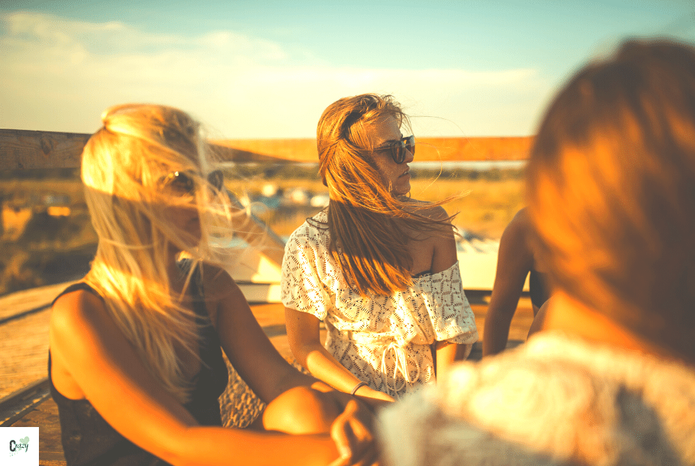 women friends relaxing together